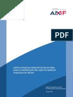 Rapport AMF Ne Bis in Idem Dans La Répression Des Abus de Marché