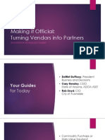 Arizona DGS 2015 presentation - Making It Official_Turning Vendors Into Partners_all Speakers