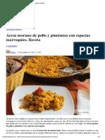 Arroz Moruno de Pollo y Pimientos Con Especias Marroquíes