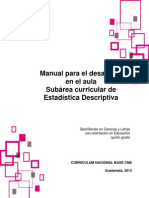 Manual Estadistica para desarrollar