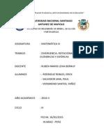 Monografía_Matemática III_Divergencia, Rotacional, Coordenadas Cilíndricas y Esféricas_9 Páginas