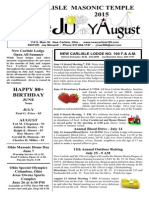 June July August 2015 Newsletter