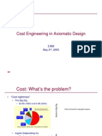 Cost Engineering and Axiomatic Design
