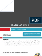 l9 ow learning aim b data storage