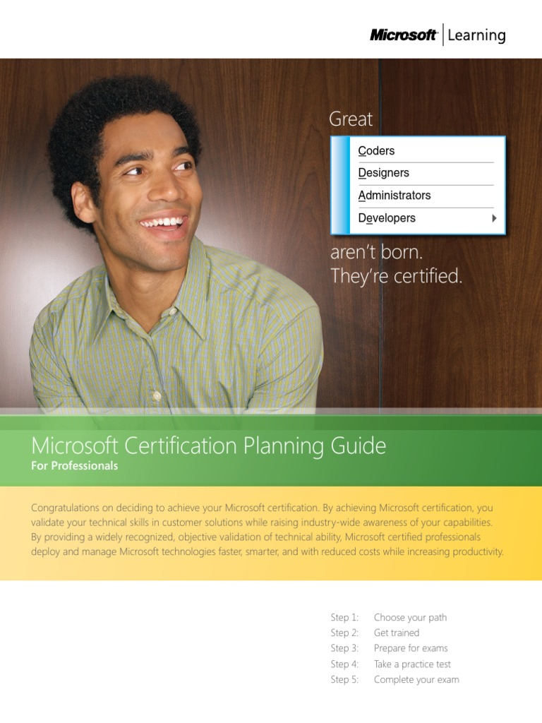 Alef technology microsoft certification planning guide for alef technology microsoft certification planning guide for professionals professional certification educational technology xflitez Gallery