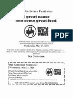 Ben Gerdeman BW3 Benefit Flyer