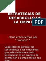 Estrategias de Desarrollo de La Empatia