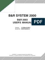 b&r2003 manual