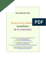 Bergson Henri - Essai sur les donnéees immédiates de la conscience (1).pdf