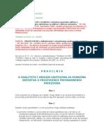 Pravilnik o Kvalitetu Za Pomocna Sredstva