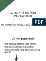 2. Uji Statistik Non Parametrik