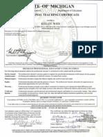 kelley wier teaching certificate
