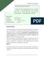 Especificaciones Tecnicas VILLA VIRGEN