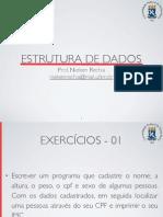 Aula05 exercícios estruturas