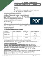 C31 Resume Cours PCSI