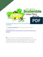10 Claves Para Hacer Un Buen Plan de Movilidad Urbana Sostenible