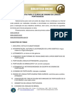 Ensino Da Lingua Portuguesa