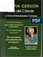 Terapia de Gerson, La Cura Del Cáncer y Otras Enfermedades Crónicas