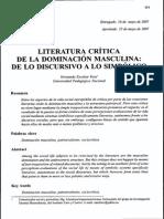 Literatura crítica de la dominación masculina