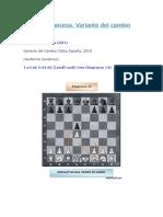 Defensa Francesa. Variante Del Cambio