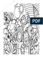 Colouring page merdeka picture