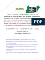 Nigeria Local Content Academic Research Materials, Download Thousands of Available Topics on All Cases From Diffrent Local Goverment Chapter 1-5, Refrences and Question a Ire