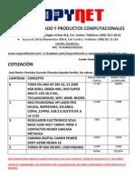 Cotización Martin Orenday