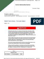 Prueba y Ajuste Relief Valve (Line)  de la Excavadora Hidraulica 5130B