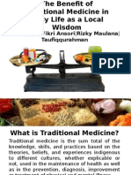 The Benefit of Traditional Medicine in Daily Life