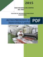 Las Altas Presiones en La Industria Cárnica