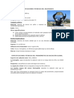 Especificaciones Técnicas Del Heliógrafo