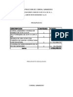 Presupuesto Corral Ganadero 2