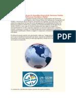 Resolución Adoptada Por La Asamblea General de Naciones Unidas Sobre El Marco de Referencia Geodésico Global