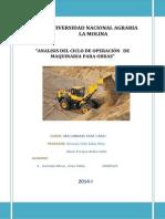 Análisis Del Ciclo de Operación de Maquinaria Para Obras ENZO