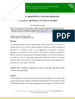 Transgénicos, Agroindustria y Soberanía Alimentaria- Revista