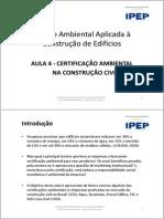 Aula 4 Certificação Ambiental Na Construcao Civil