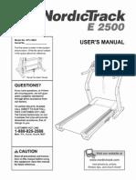 NordicTrack e2500 Treadmill