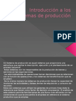Introducción a Los Sistemas de Producción