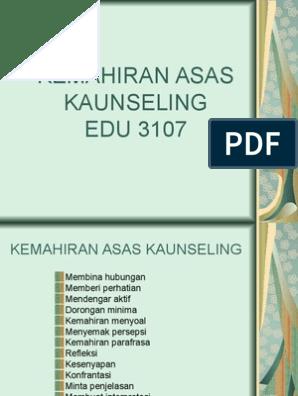 Edu 3073 Kemahiran Asas Kaunseling