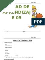 UNIDAD DE APRENDIZAJE  5°  AGOSTO  - 2015
