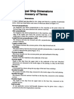 Principal Ship Dimensions and Glossary of Terms.