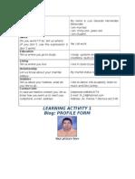 Activity 1 Profile