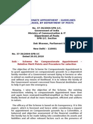 Compassionate Appointment   Public Law   Virtue