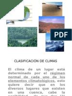 Clasificación de Climas