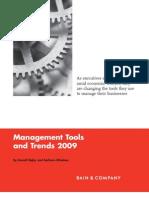 Management Tools 2009 (Bain)