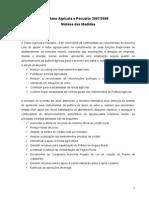 Plano Agricola e Pecuario 2007-08 RESUMO