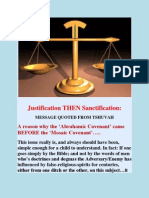 Justification THEN Sanctification