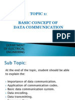 Topic 1 Basic Concept of Data Communication