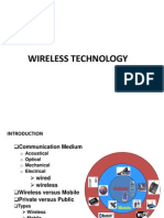 Unit 5 - Wireless Technologies