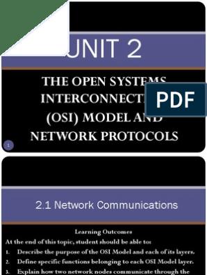 Unit 2 - Osi Model and Network Protocols | Osi Model | Transmission Control  Protocol